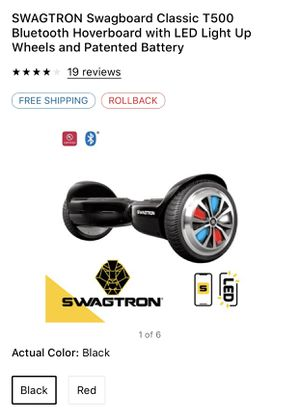 Swagtron swagboard classic T500 Bluetooth hover board with led light up wheels for Sale in Dallas, TX