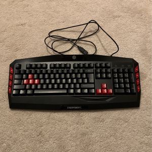 """CyberPowerPC USB Gaming Keyboard """"Lights up"""" for Sale in Streetsboro, OH"""