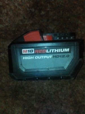 Milwaukee M18 Fuel High Output HD 12.0 Amp Battery for Sale in Fresno, CA
