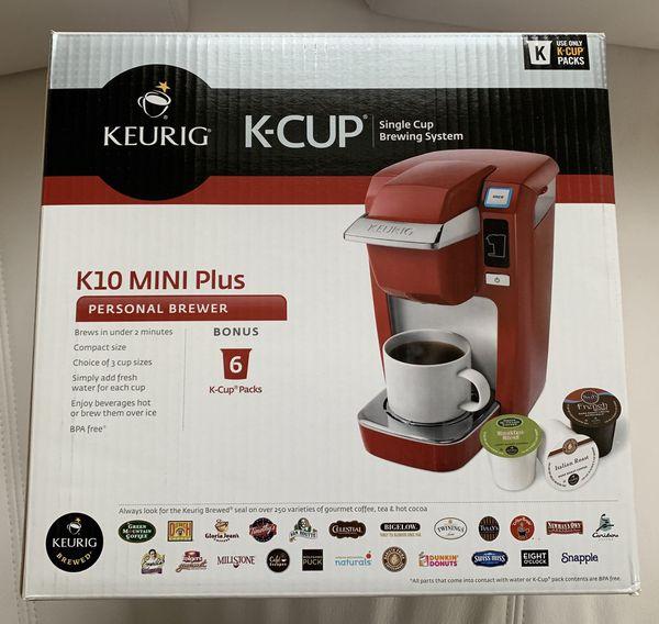 KEURIG K10 Mini Plus Coffee Maker - Red