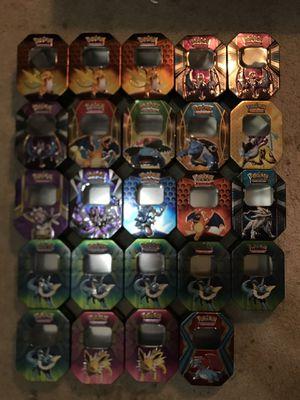 25 empty Pokémon Trading Card Storage Tins! for Sale in Carmichael, CA