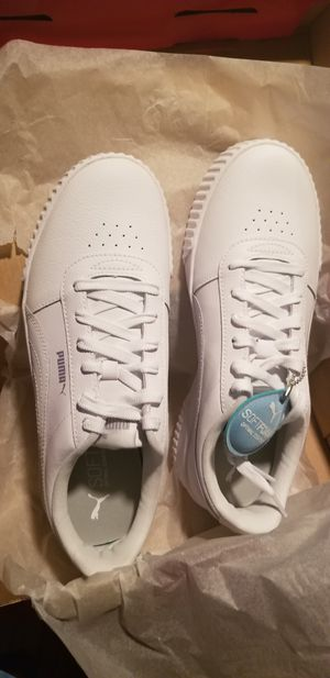 WOMEN'S All white Puma size 11 brand new with box and tags for Sale in Silver Spring, MD