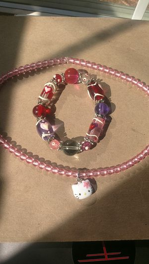 Hello Kitty style necklace and bracelet for Sale in Los Altos Hills, CA