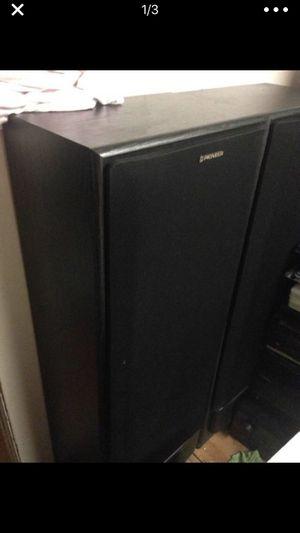 Pair Pioneer speakers + stereo Pioneer received Sx303R for Sale in Austin, TX
