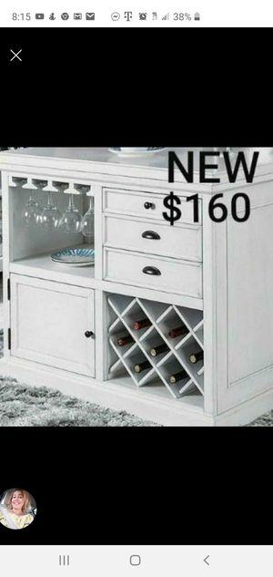 Wine Cabinet in Antique White for Sale in Montebello, CA