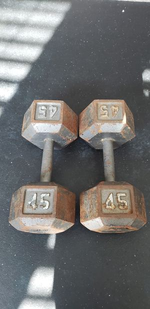 45 Lbs Dumbbells for Sale in Houston, TX