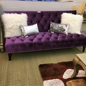 Purple velvet futon for Sale in Atlanta, GA