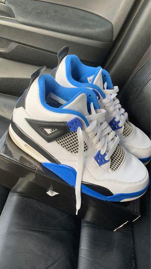 Blue and white Jordan 4s for Sale in Richmond, VA