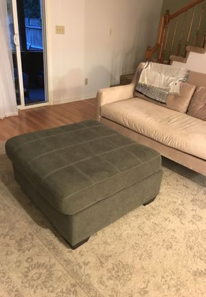 Maier Ottoman - blue gray for Sale in Nashville, TN