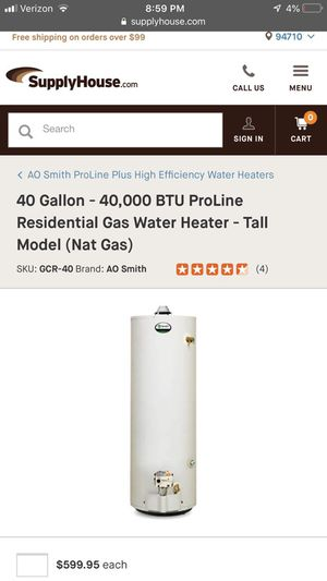 40galones water heater de venta Nuevo en caja AO Amith for Sale in Berkeley, CA