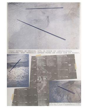 "Dennis Oppenheim Lithograph Aerial ""Colbalt Vectors"" Art for Sale in Fort Lauderdale, FL"