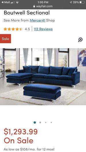 Boutwell sectional for Sale in Arlington, VA