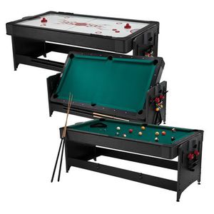 Pockey multi-game table : pool and air hockey table 2 in 1 for Sale in Apopka, FL