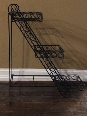 3 Tier Black Metal Plant Stand for Sale in Shady Shores, TX