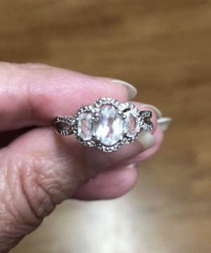 Sterling Silver 925 Solid Ring with CZ's Size 6.5 for Sale in Nashville, TN