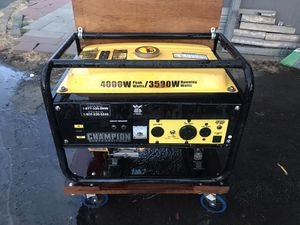 Champion Generator 3500 w max 4000 for Sale in McMinnville, OR
