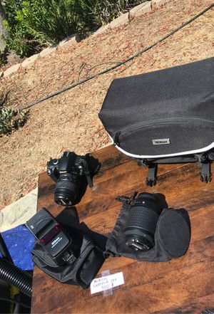 Nikon D40x DSLR, flash, lenses and case for Sale in Lakeside, CA
