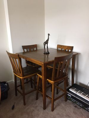 Solid wood kitchen table and 4 chairs for Sale in Arlington, VA