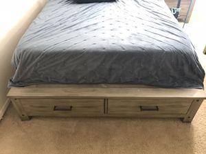 Queen bed set (bed frame, dresser, mirror) $800 obo for Sale in Troy, MI