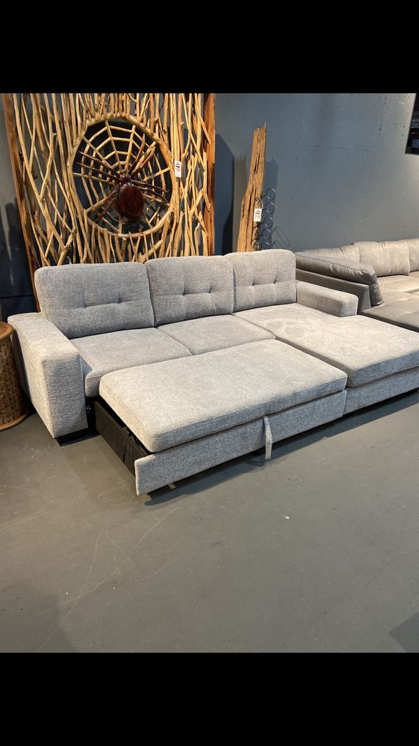 New & In Stock! Light Grey Sleeper Sofa Only $799!