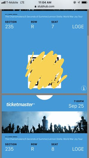 2 Chainsmokers, 5SOS, And Lennon Stella concert tickets for Sale in Lexington, KY