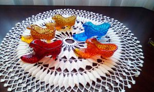 Fenton, 4 Hobnail, 1 Daisy Pattern Glass Shoes.. Slippers. Vintage for Sale in NEW PRT RCHY, FL
