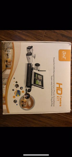 Brand New BNT 1080P Security Camera System PoE, 8CH 4 Camera 7/24 Video Recording Onvif Free APP Remote Monitor Customizable Motion Detect IP67 Water for Sale in Galena, OH