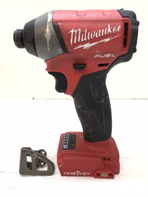 Milwaukee M18 FUEL ONE-KEY 18-Volt Lithium-Ion Brushless Cordless 1/4 in. Hex Impact Driver (Tool-Only) for Sale in Bakersfield, CA