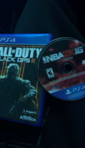 call of duty bo3 and 2k 16 for Sale in Riverdale, MD