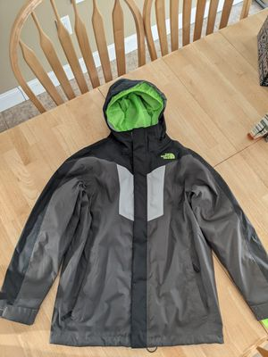 North Face Jacket Boys 14-16 with removable liner for Sale in East Freetown, MA