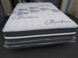 ♦Limited Edition Bamboo Siesta Europillow Top Queen Size Mattress and Boxspring♦ for Sale in Clovis, CA