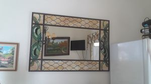 Large wall mirror with colorfull motif designs for Sale in Miami, FL
