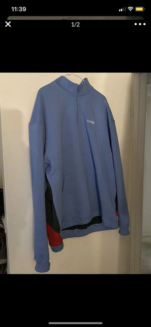 Supreme Cross SS20 Half Sweatshirt Columbia Blue/ Size Extra Large for Sale in Yorba Linda, CA