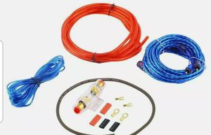 Car Audio Cable Wiring Kit - 20ft 8 Gauge Powered 1200 Watt Complete Amplifier Hookup for Battery, Head Unit & Stereo for Sale in San Diego, CA