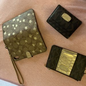 Coach iPhone XS Max wristlet & Mk wallet for Sale in Andover, MA