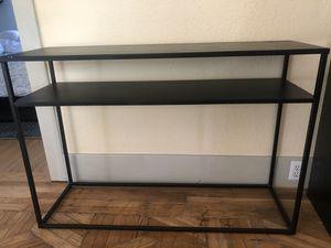 Black Metal Console Table for Sale in Sacramento, CA