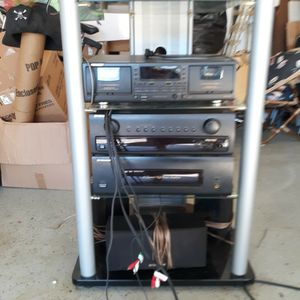 Pioneer Caset And CD player With Speakers And Stand for Sale in Vista, CA