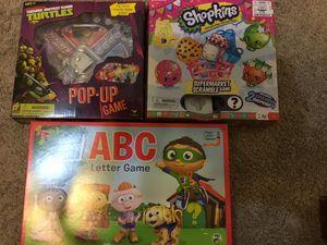 Super why abc game, shopkins, teenage mutant ninja turtles games for Sale in Houston, TX