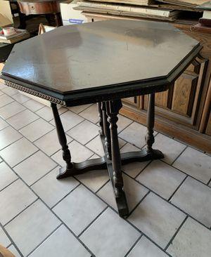 Antique Octagon Table, Espresso Brown Color for Sale in Los Angeles, CA