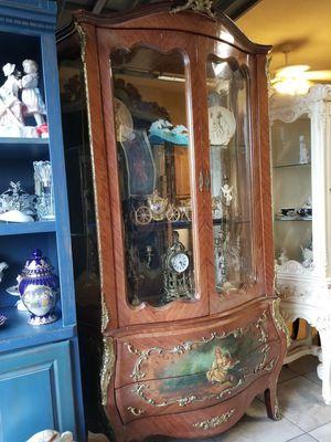 Big antique curio cabinet for Sale in Miami, FL