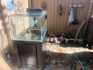 24 inch Glass cube complete set upAquarium for Sale in Redondo Beach, CA