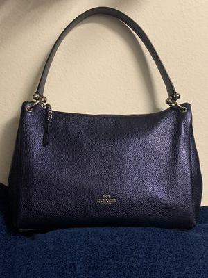 Blue Coach Bag with detachable long strap.... for Sale in Sandston, VA