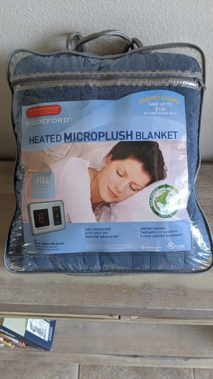 BRAND NEW- BIDDEFORD Heated MICRO PLUSH Electric Blanket DIGITAL Controller- Full Size Blue for Sale in Tampa, FL