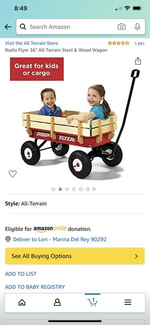 Radio Flyer All Terrain Steel & Wood Red Wagon - perfect condition for Sale in Los Angeles, CA