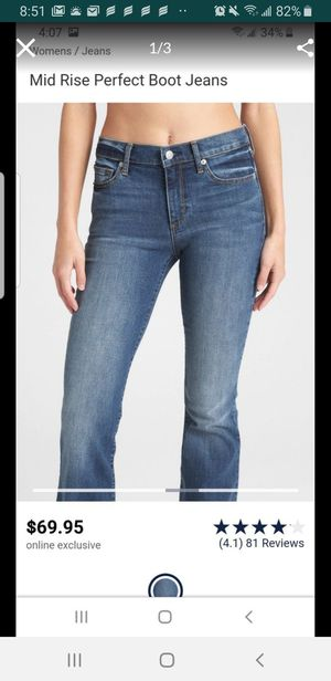 New jeans mid rise perfec boots women gap size 26 y 27 $15 each for Sale in Bell Gardens, CA