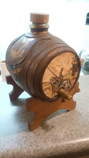 Mid Century Antique Italian glass barrel decanter! for Sale in Tampa, FL