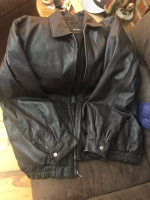 Men's chocolate leather Sean John jacket XXL for Sale in Brooklyn, NY