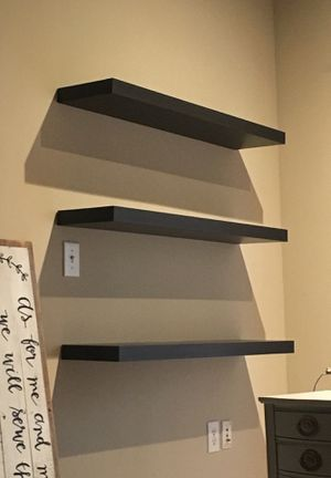 Three Black Ikea Shelves for Sale in Tampa, FL