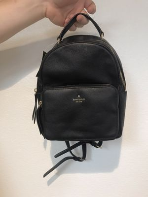 Kate Spade black leather backpack- like new for Sale in Edmonds, WA