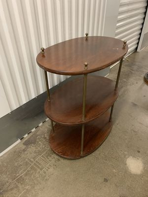 Wooden Three Tiered End Table for Sale in Torrance, CA